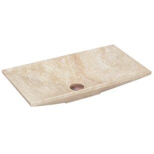 Big Save Above Counter Stone Rectangular Vessel Bathroom Sink By Lenova