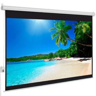 White 100 Electric Projection Screen
