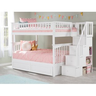 Online Reviews Abel Staircase Full Over Full Standard Bed with Drawers ByHarriet Bee