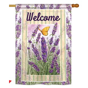 Lavender Spring Floral 2-Sided Polyester 2'4 X 3'4 Ft. House Flag by Breeze Decor
