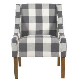 Blue Buffalo Plaid Chair | Wayfair