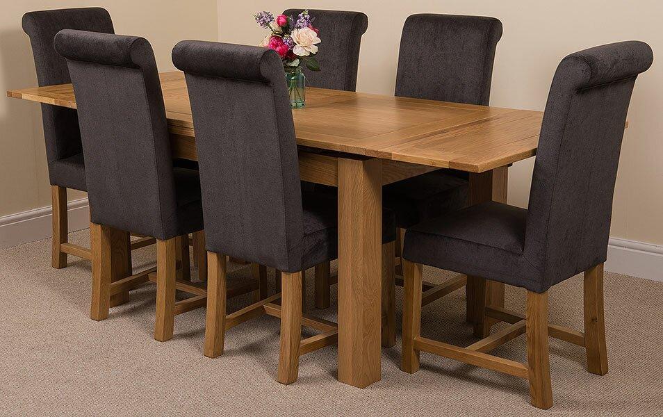 red barrel studio essgruppe upstream mit ausziehbarem tisch und 6 st hlen bewertungen. Black Bedroom Furniture Sets. Home Design Ideas