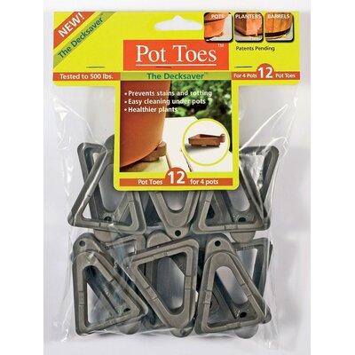 12 Piece Planter Feet Set Gardenrite Color: Dark Grey