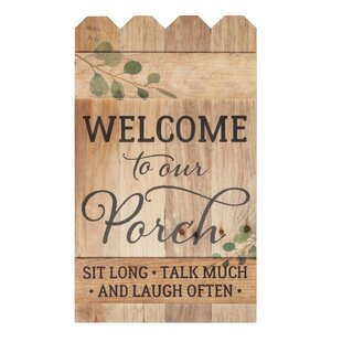 Welcome To Our Porch Fence Wall Décor