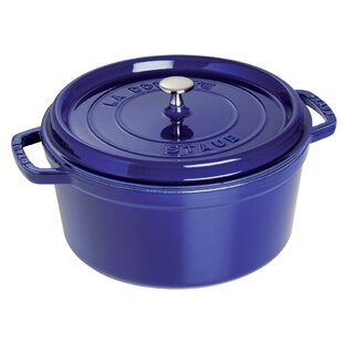 Staub Cast Iron 6 Qt. Shallow Wide Round Dutch Oven