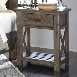 Bartow 1 Drawer Night Stand by Three Posts