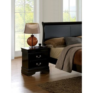 Best Poulos 2 Drawer Nightstand By Charlton Home