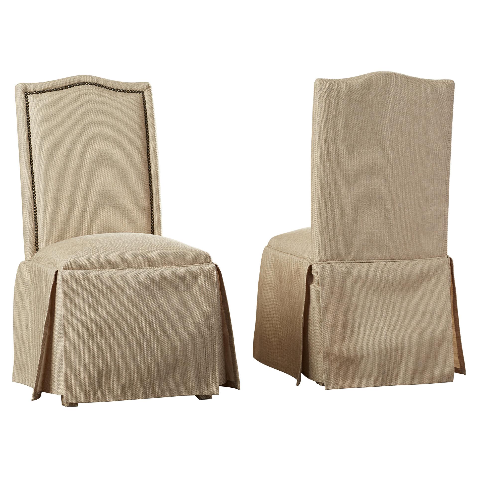 Alison Skirted Upholstered Parson Chair