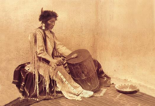 Buyenlarge The Medicine Drum By Carl And Grace Moon Photographic Print Wayfair