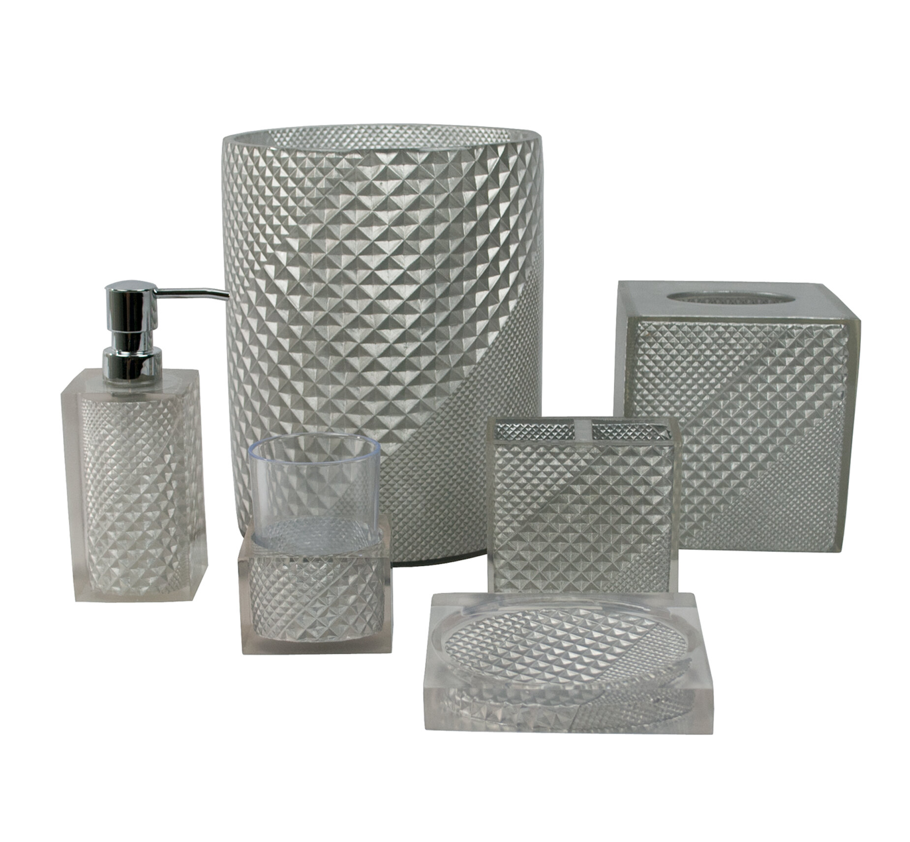 Sherry Kline Prizm 6 Piece Bathroom Accessory Set U0026 Reviews | Wayfair