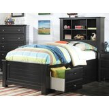 Everman Mate's Bed with Drawers and Bookcase by Harriet Bee