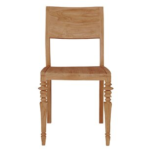 Glam Solid Wood Dining Chair (Set of 2) b..