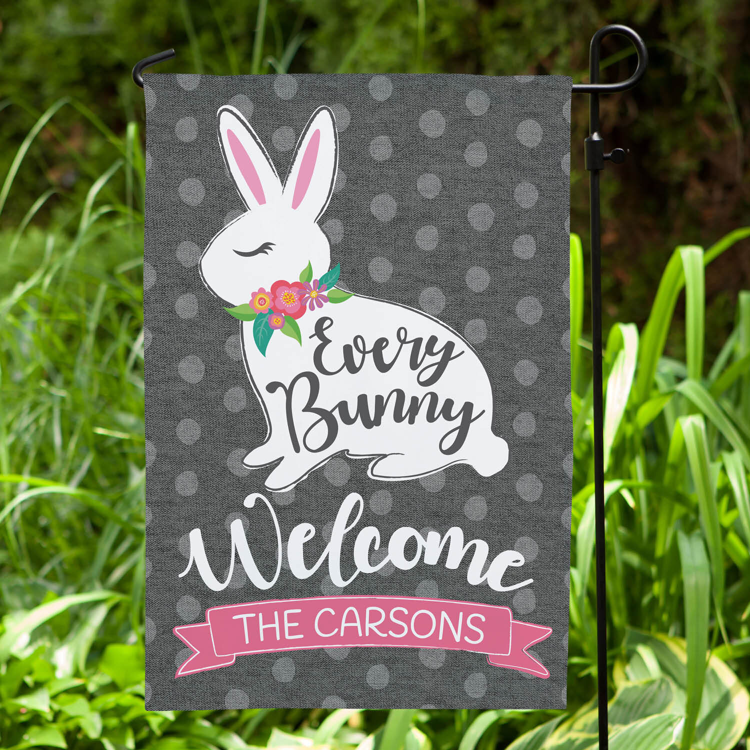 Cps Every Bunny Welcome Personalized Polyester 18 X 12 In Garden Flag Wayfair Ca
