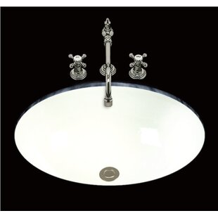 Great Price Debbie Ceramic Oval Undermount Bathroom Sink with Overflow ByBates & Bates