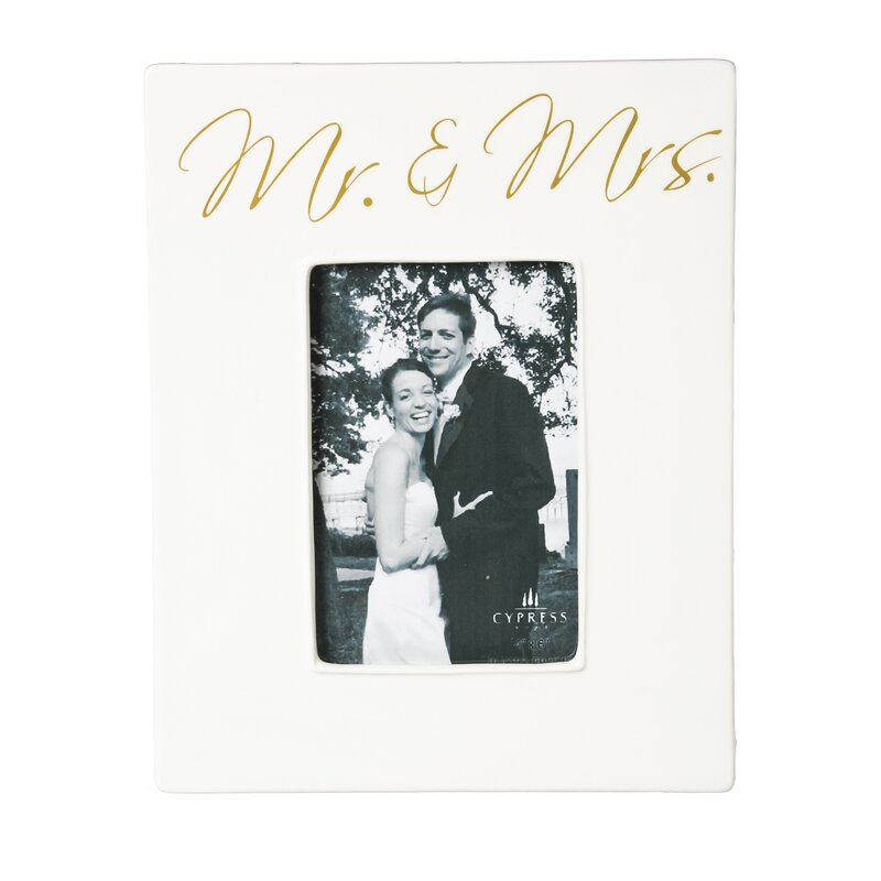 Red Barrel Studio Mr. and Mrs. Ceramic Picture Frame & Reviews   Wayfair