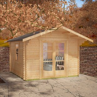 Panthera 10 X 8 Ft. Tongue And Groove Log Cabin By Tiger Sheds
