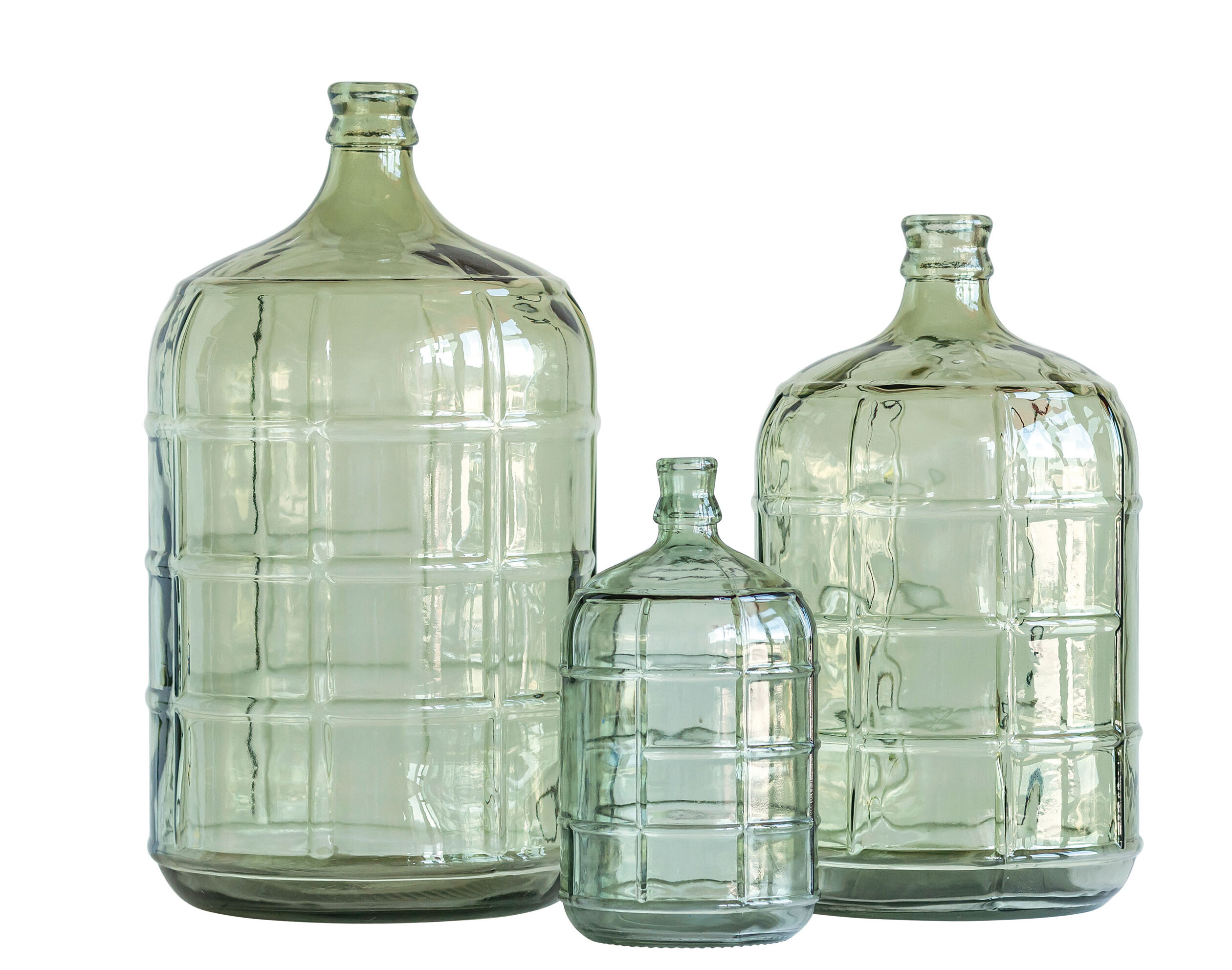 Kelling Large Transparent Reproduction Glass Decorative Bottles