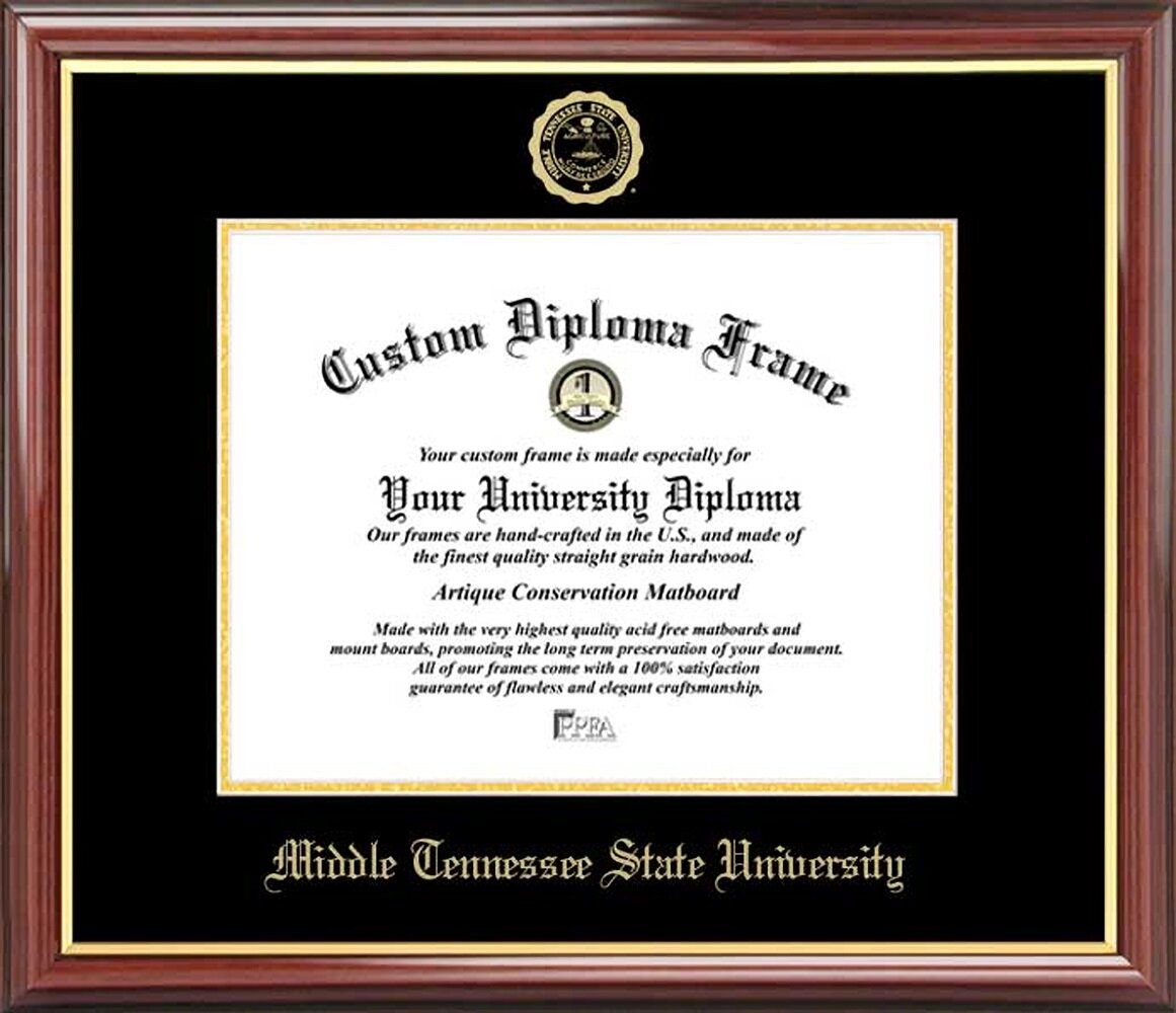 Diploma Frame Deals Middle Tennessee State University Petite Picture Frame