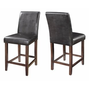 Vogt Mid-Back Contemporary 40 Counter Height Bar Stool (Set of 2) by Red Barrel Studio
