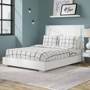 Schiavone Upholstered Standard Bed With Led Light