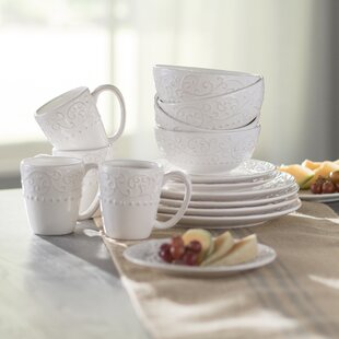 Save & Cottage u0026 Country Dinnerware Sets Youu0027ll Love | Wayfair