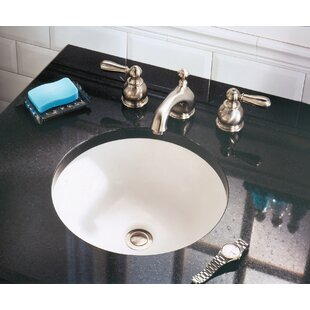 Check Prices Orbit Ceramic Circular Undermount Bathroom Sink with Overflow By American Standard