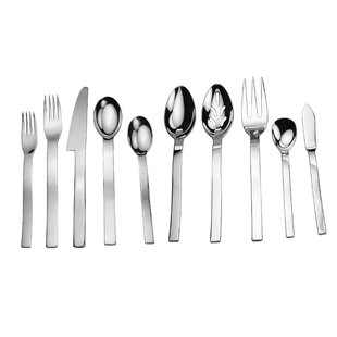 Splendide Wave 45 Piece Flatware Set, Service for 8