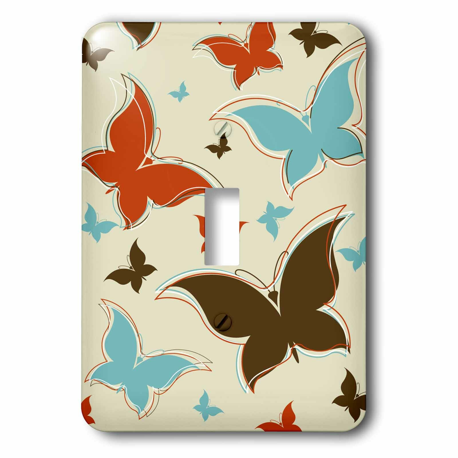 3drose Butterfly 1 Gang Toggle Light Switch Wall Plate Wayfair