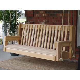 Ella Cedar High Back Rope Porch Swing