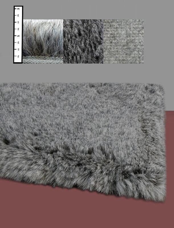 Benes Faux Flokati Grey Area Rug