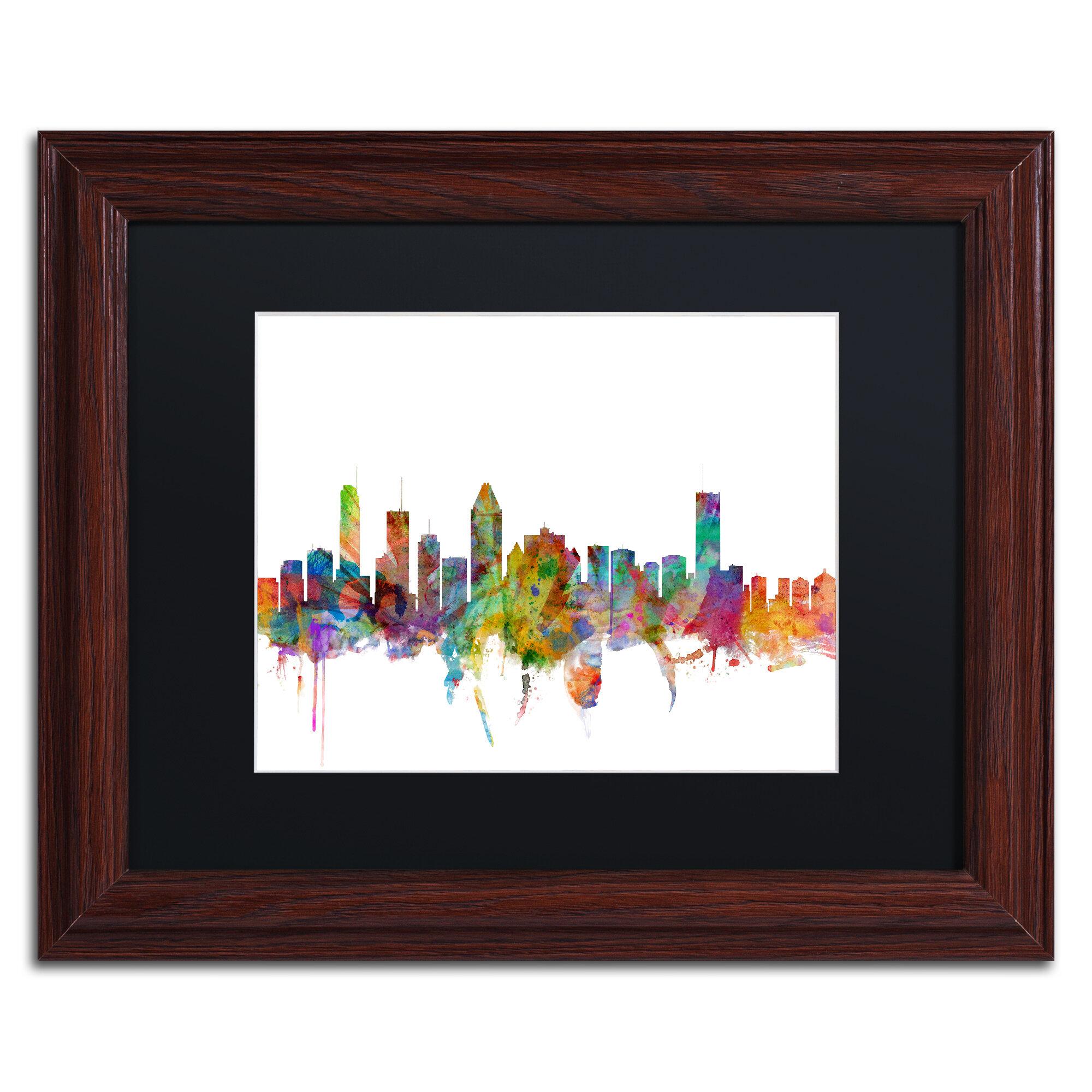 Trademark Art Montreal Canada Skyline Framed Graphic Art