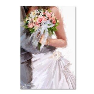 Silk bridal bouquets wayfair bridal bouquet print on wrapped canvas mightylinksfo