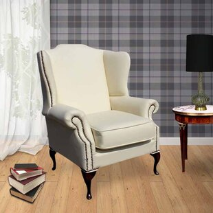 Chinnock Leather Wingback Chair By Rosalind Wheeler