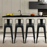 Pinney Counter and Bar Stool (Set of 4) by 17 Stories
