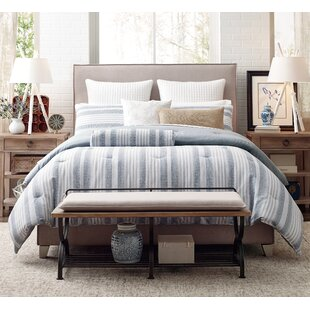 Mulberry Stripe Reversible Comforter Set