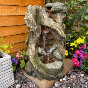 Smallwood Falls Woodland Resin Water Feature With Light By Sol 72 Outdoor