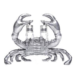 Coastal Crab Hanging 3 Piece Salt and Pepper Set