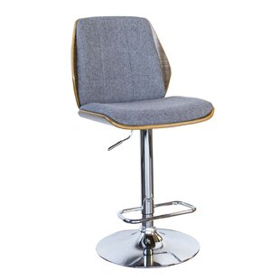 Varda Adjustable Height Swivel Bar Stool Wrought Studio