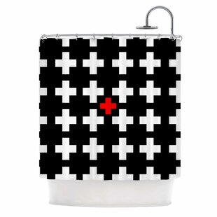 Swiss Cross Single Shower Curtain