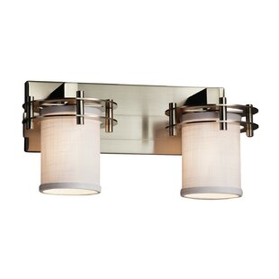 Latitude Run Red Hook Dimmable 2 Light LED Cylinder w/ Flat Rim Vanity Light