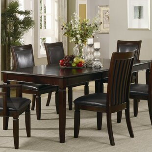 Pyburn Transitional Style Wooden Extendable Dining Table by Charlton Home