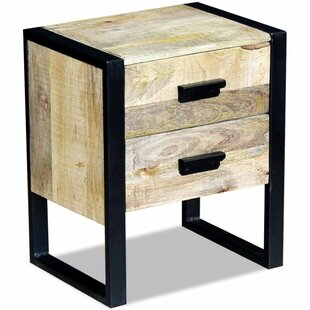 Gisela 2 Drawer End Table with Storage