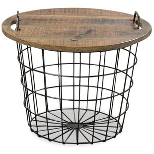 Monsen Convertible Basket End Table