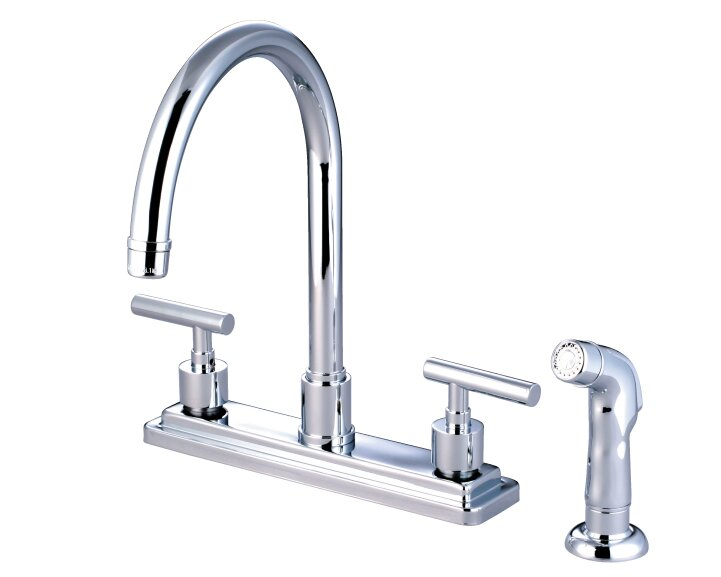 Elements Of Design Sydney Double Handle Kitchen Faucet With Side Spray Reviews