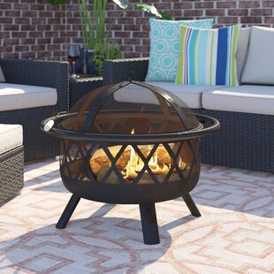 Klinger Steel Wood Burning Fire Pit By Sol 72 Outdoor