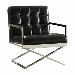 Brayden Studio Makayla Contemporary Sleek Comfort Armchair
