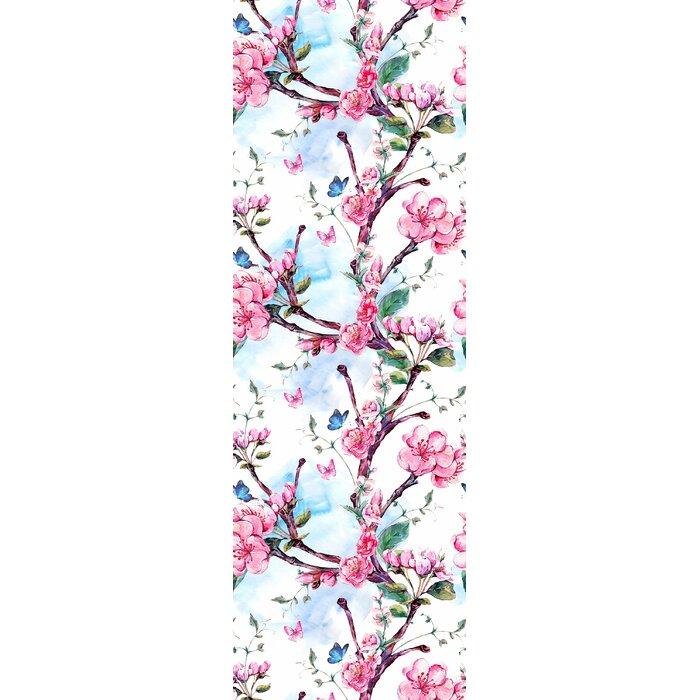 Calhoun Removable Blooming Sakura Tree 8 33 L X 25 W Peel And Stick Wallpaper Roll