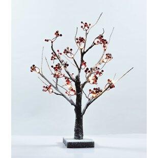 The Holiday Aisle Snowy Bonsai Tree 18'' Table Lamp