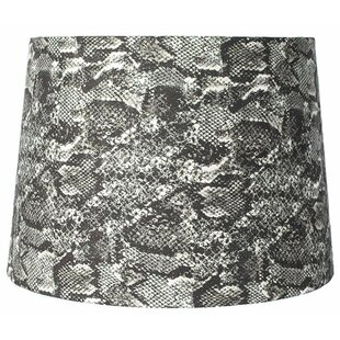 Snakeskin Fabric 12 Acrylic Drum Lamp Shade
