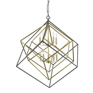 Brayden Studio Pederson 10-Light Geometric Chandelier